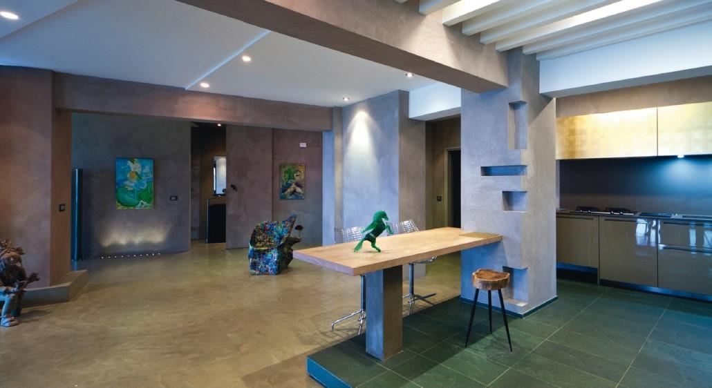 Un anfiteatro sul mare tassonedil - Pareti della cucina ...