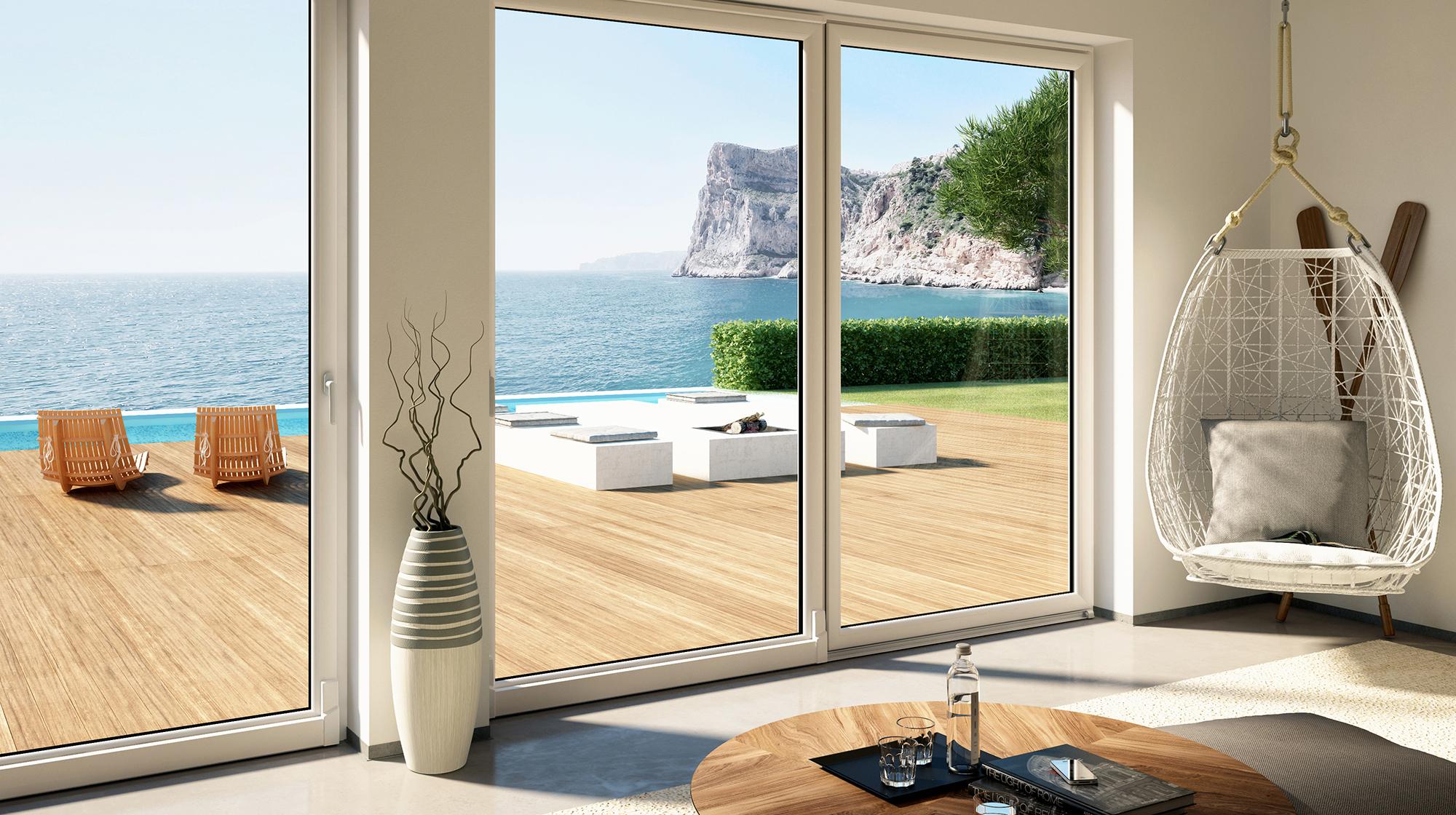 Tutto vetro le soluzioni per le finestre di grandi - Finestre grandi ...